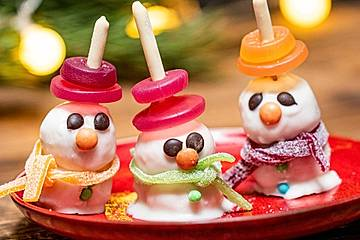 Schneemänner-Cakepops