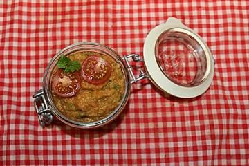 Aufstrich mit roten Linsen, Möhren und Curry