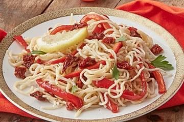 Antipasti-Konjakspaghetti