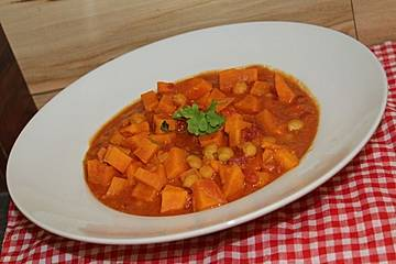 Asiatisches Curry mit Süßkartoffel