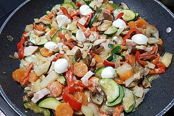 Schnelle Gemüsepfanne low carb