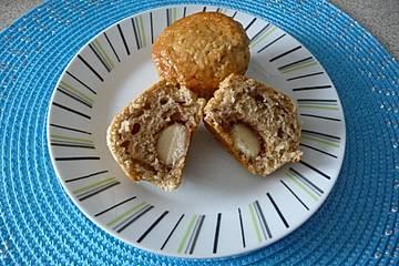 Haselnussmuffins mit Marzipankern