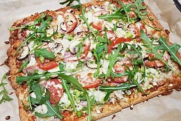 Kohlenhydratarme Pizzafladen