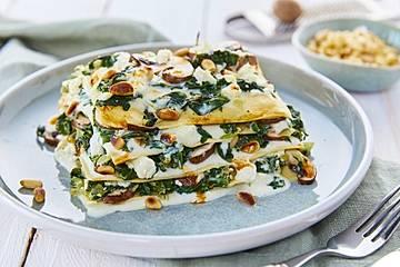 Spinat-Schafkäse-Lasagne