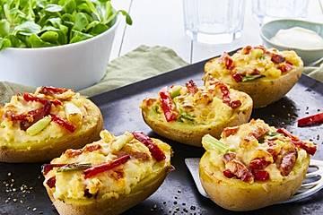 Überbackene Kartoffelhälften