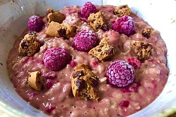 Cookie-Himbeer-Porridge
