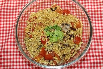 Tomaten-Champignonrisotto