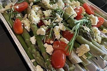 Spargel-Feta-Tomaten vom Grill