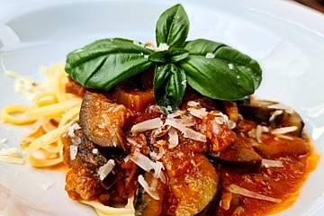 Roberts Spaghetti mit einer Tomaten-Thunfisch-Sauce