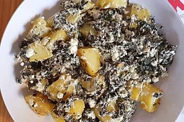 Salbei-Kartoffeln mit Palmkohl und Feta