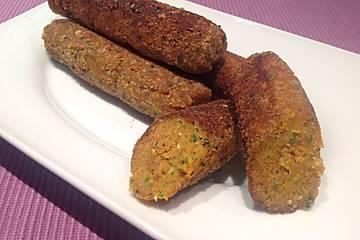 Vegetarische Reis-Gemüse-Cevapcici