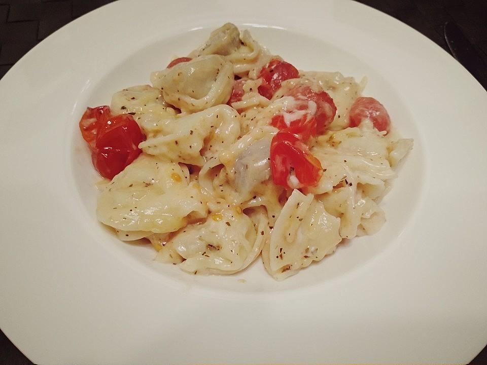 Parmesan-Aioli mit Nudeln und Tomaten von Njam njam | Chefkoch