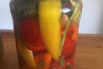 Fermentierter Tomaten-Paprikamix