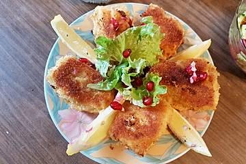 Frittierter Fisch mit Granatapfelkernen