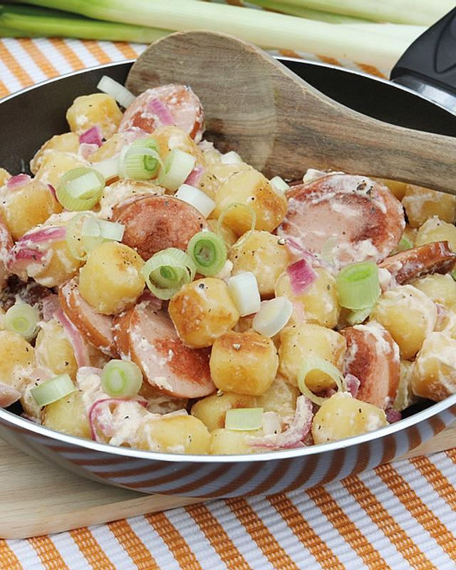 Kartoffel-Gnocchi-Wurst-Pfanne