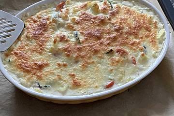 Kartoffel-Zucchini-Tomatenauflauf