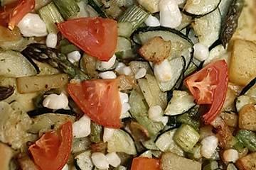 Gemüse-Coca - Mallorquinische Pizza