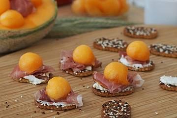 Rohschinken-Melonen-PausenCracker