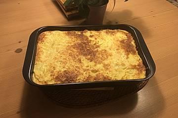 Kartoffel-Spinat-Gratin mit Putenfleisch
