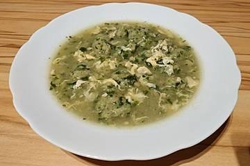 Kartoffel-Spinat-Nockerl-Suppe