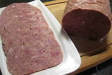 Sülzwurst mit Schwartenprotein