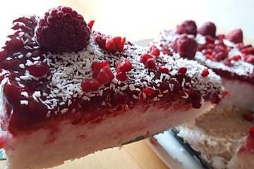 Kokos-Milchreis-Torte mit Himbeeren à la Gabi
