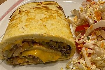 Low carb Cheeseburger-Rolle