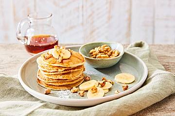 Vegane Pfannkuchen mit Banane
