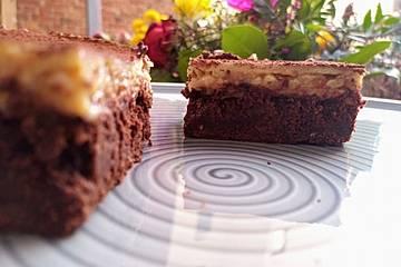 Drei-Schichten-Brownie