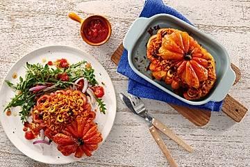 Vegane Tomaten mit Reisfüllung
