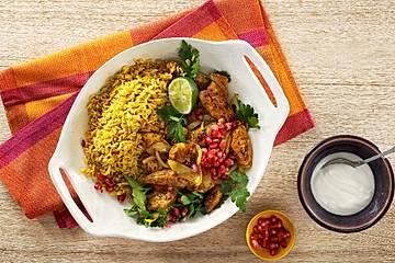 Butter-Chicken mit Curryreis