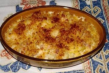 Spaghetti-Blumenkohl-Gratin