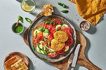 Brat- und Backtaler mit Zucchini-Caprese