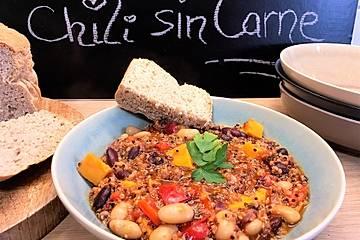 Chili sin Carne mit Süßkartoffeln und Quinoa