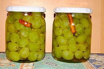 Eingelegte Trauben