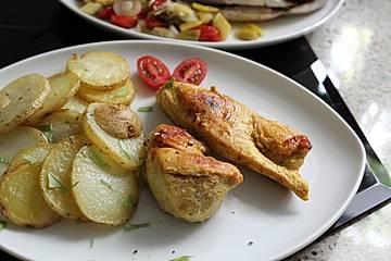 Geflügel in scharfer Currymarinade