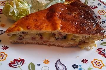 Zucchini-Kartoffel-Kuchen mit würzigem Guss