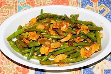 Grüne Bohnen mit Mandeln - Loubia