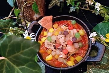 One Pot Jackfruit-Pfanne mit Tapiokaperlen