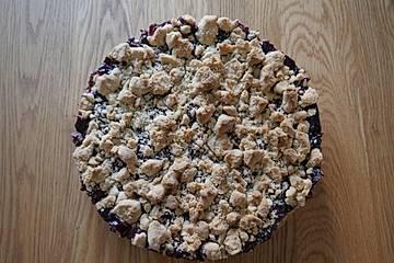 Streuselkuchen mit Rotweinkirschen