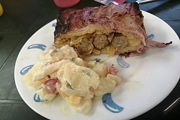 Bacon-Braaibroodjies mit Würstchen