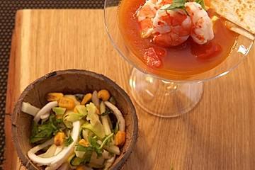 Veganes Kokosnuss-Ceviche und Coctel de Camarón
