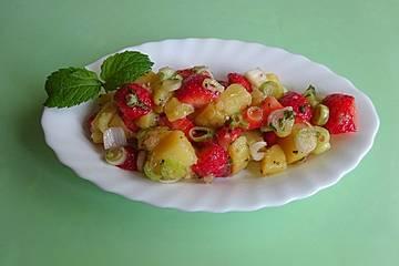 Kartoffelsalat mit Erdbeeren