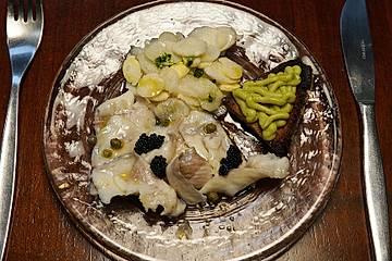 Forellen-Ceviche mit Spargel und Avocado