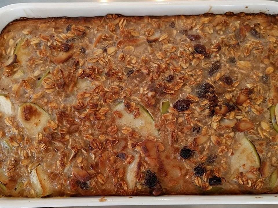 Baked Oatmeal - Haferflockenauflauf mit Äpfeln und Zimt
