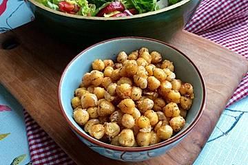 Würzige Kichererbsen-Croutons