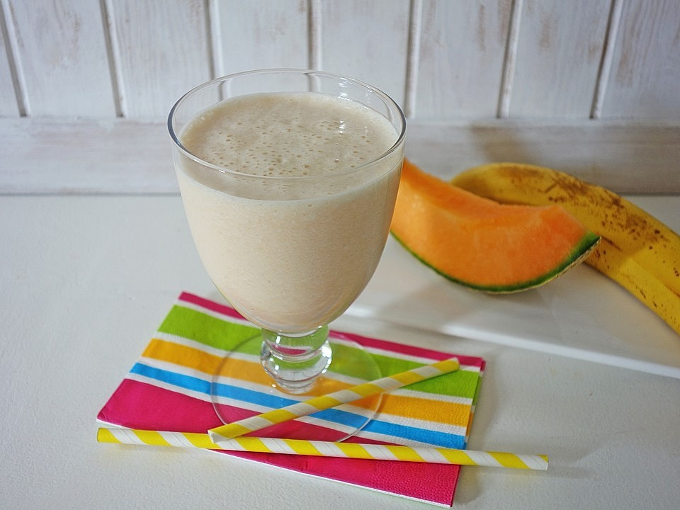 Smoothie mit Cantaloupe Melone