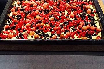 Stachelbeer - Johannisbeer - Blechkuchen
