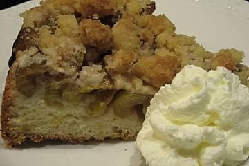 Reineclaudenkuchen mit Hefeteig