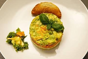 La salade préférée de papa - Avocado-Karotten-Eier-Salat mit Mayonnaise-Dressing und Pili-Pili
